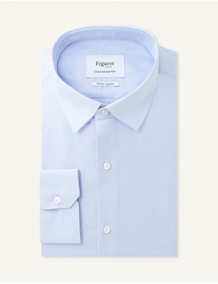 Chemise Thermo-régulante Contemporaine en oxford bleu