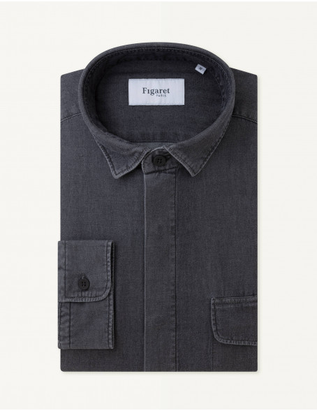 Chemise Maël Contemporaine en denim gris