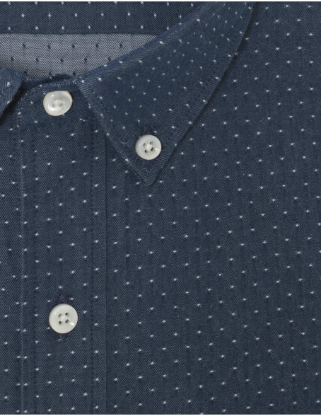 Chemise Gaston Contemporaine en denim bleu