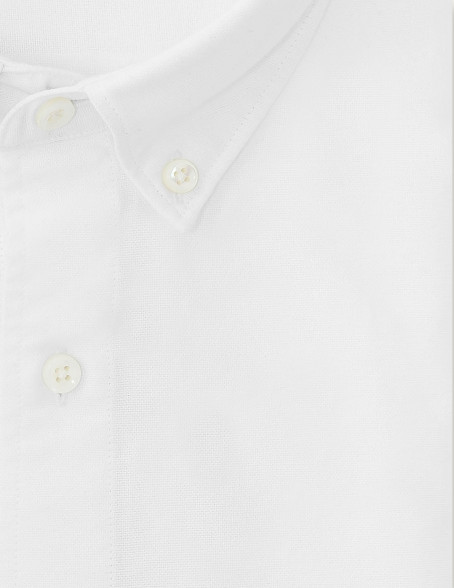 Chemise Gaston Contemporaine en oxford uni blanc