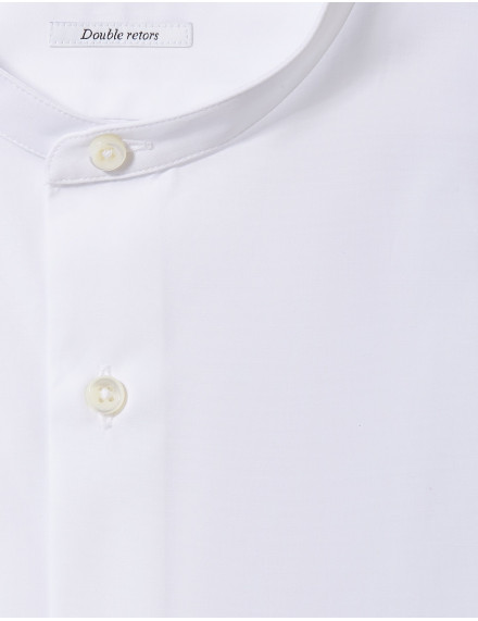 Chemise Gaston Contemporaine en popeline blanche