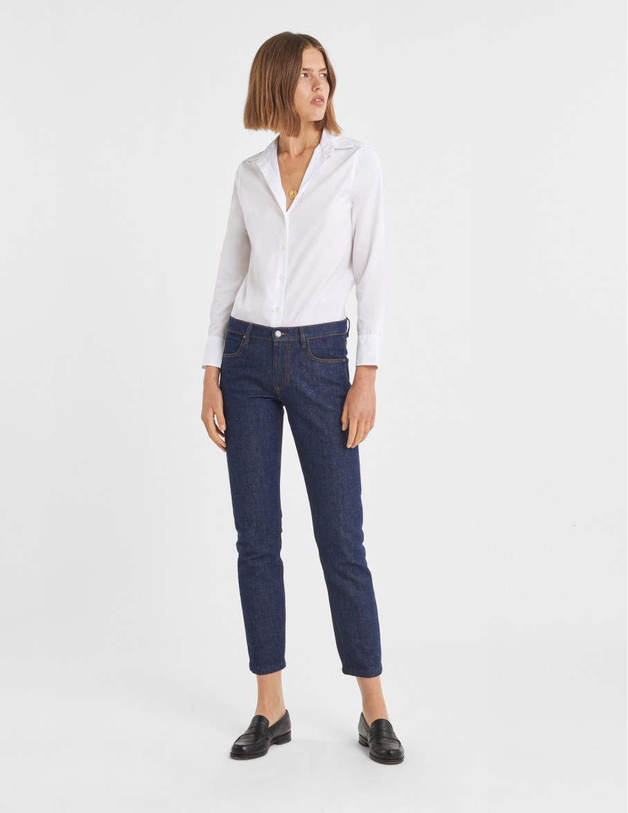 Chemise Marion en popeline blanche - Collection voyage