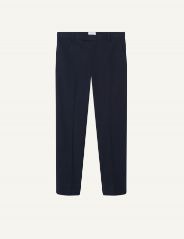 Pantalon Romain en coton stretch marine