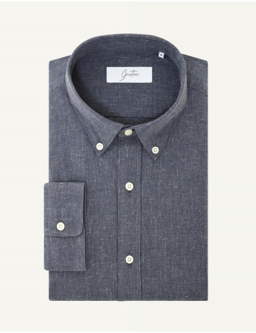 Chemise Gaston Contemporaine en coton recyclé marine
